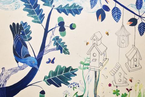 Fresques illustrées crèche Vannes